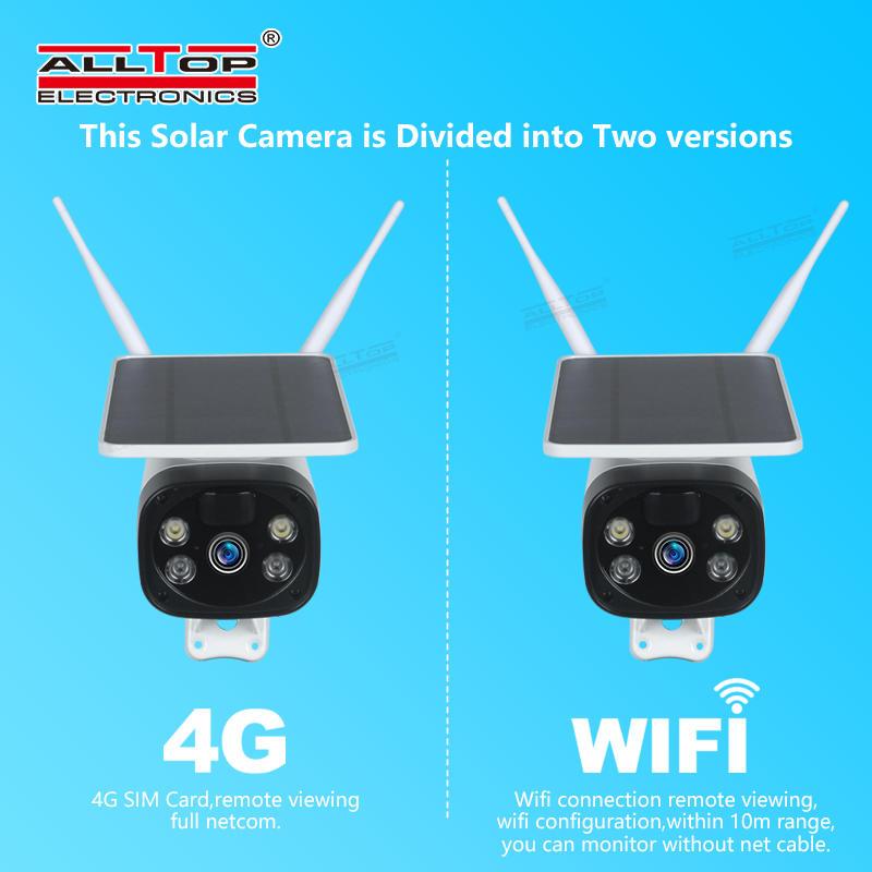 ALLTOP HD video wireless monitoring outdoor solar CCTV WIFI 4G alarm smart security PTZ camera