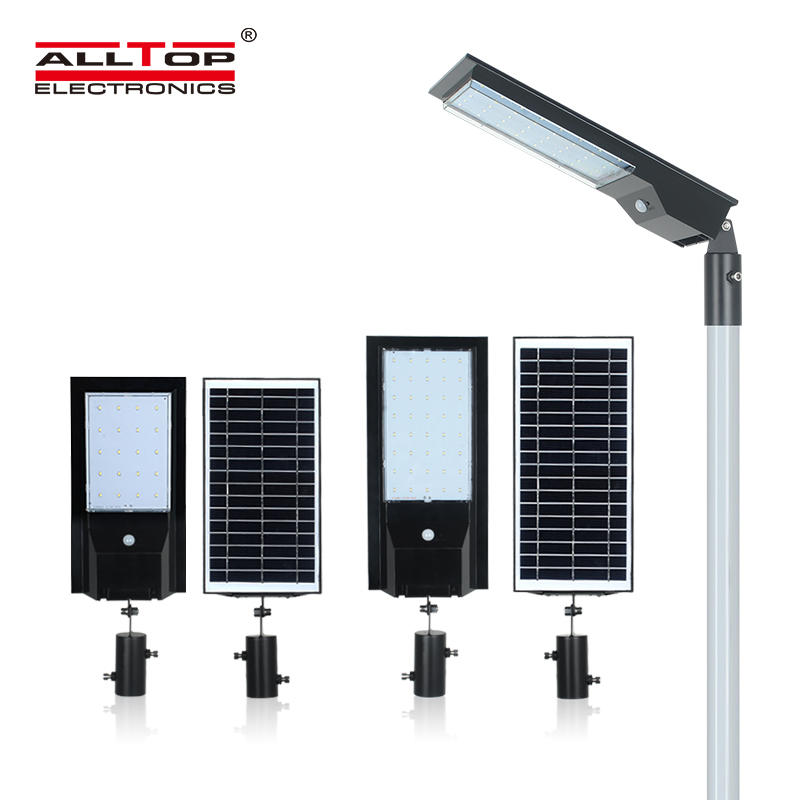 ALLTOP Newest design outdoor park road lighting ip65 led solar street light