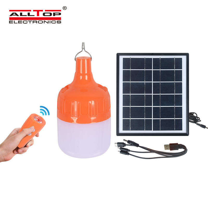 ALLTOP Outdoor safety lighting solar rechargeable led bulbs amping solar emergency light