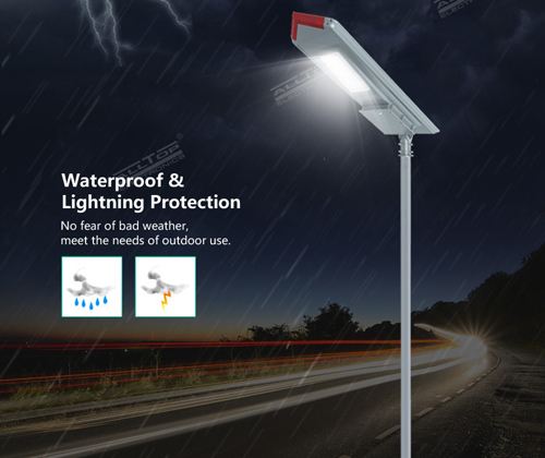ALLTOP waterproof all in one solar street courtyard light supplier for highway-5
