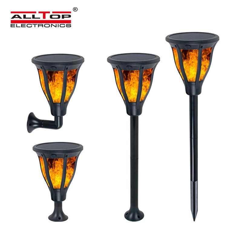 ALLTOP high quality outdoor park road lighting 2w ip65 flame led solar garden light