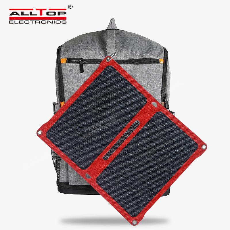 Foldable waterproof solar power bank portable solar smart power bank