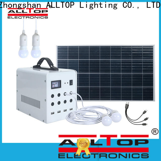 ALLTOP multi-functional solar dc lighting system directly sale for home