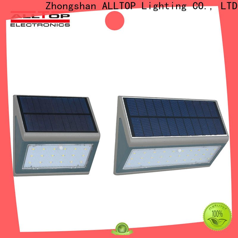 ALLTOP high quality solar led wall lamp factory direct supply for party