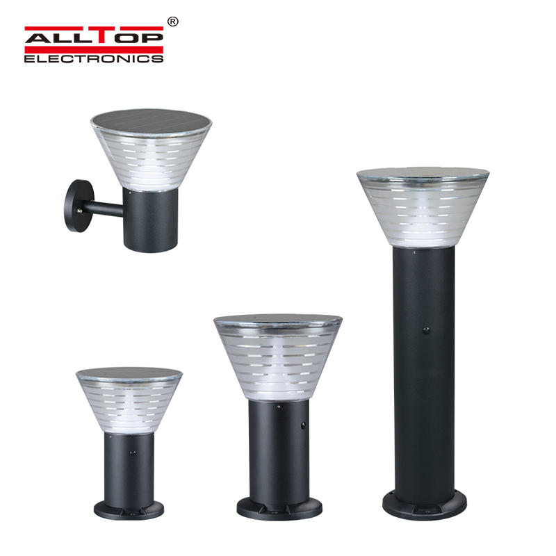 ALLTOP 5watt waterproof ip65 outdoor all in one integrated led solar garden light price Garde A