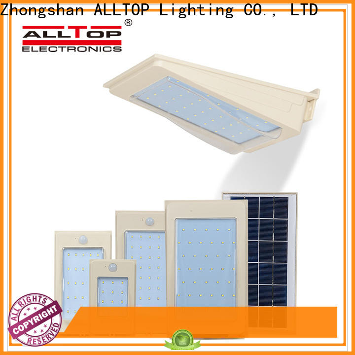 ALLTOP modern solar wall lantern manufacturer for street lighting