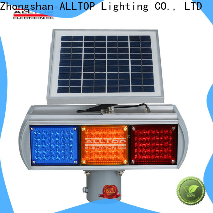 ALLTOP solar powered traffic lights company supplier for police