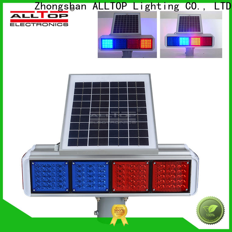 ALLTOP high quality solar powered traffic lights company directly sale for police
