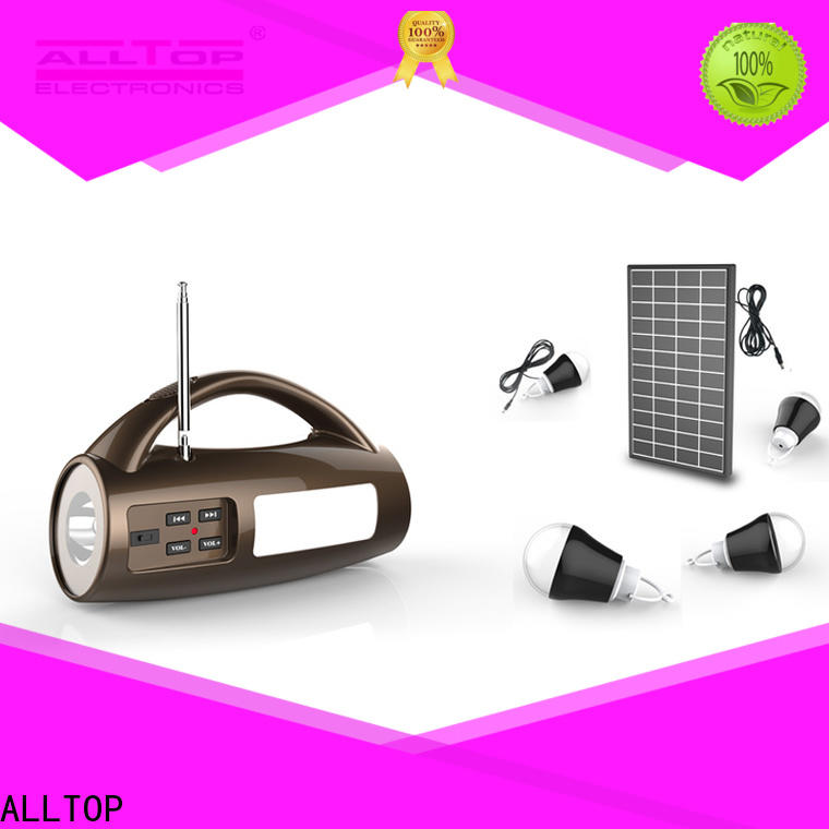 ALLTOP solar led lighting system with good price for camping
