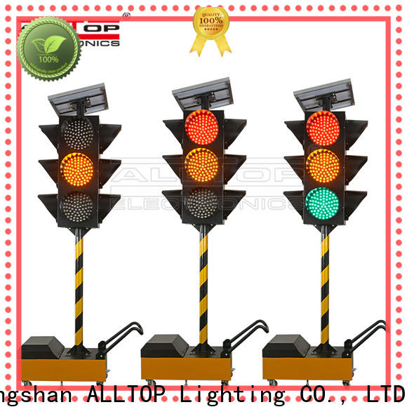 ALLTOP waterproof solar traffic light directly sale for factory