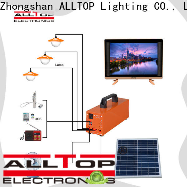 ALLTOP 12v solar lighting system factory direct supply for outdoor lighting