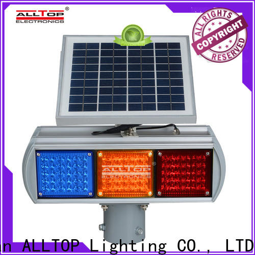 ALLTOP low price solar powered traffic lights price wholesale for safety warning