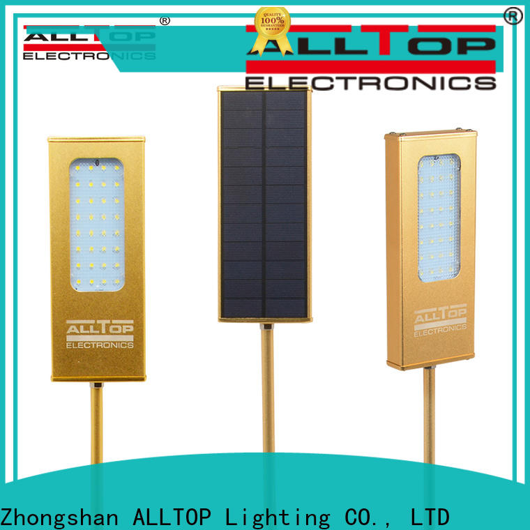 ALLTOP solar pir wall light factory direct supply for concert