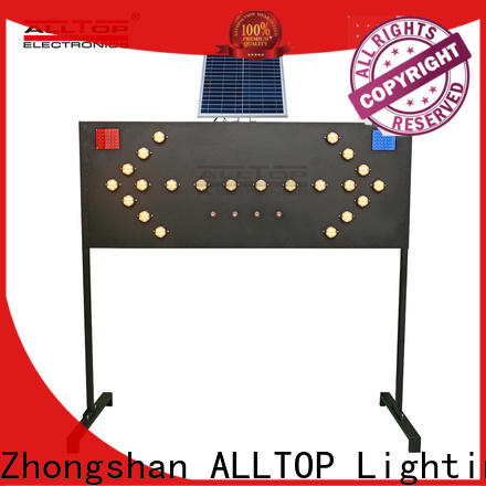 ALLTOP double side solar traffic light series for security