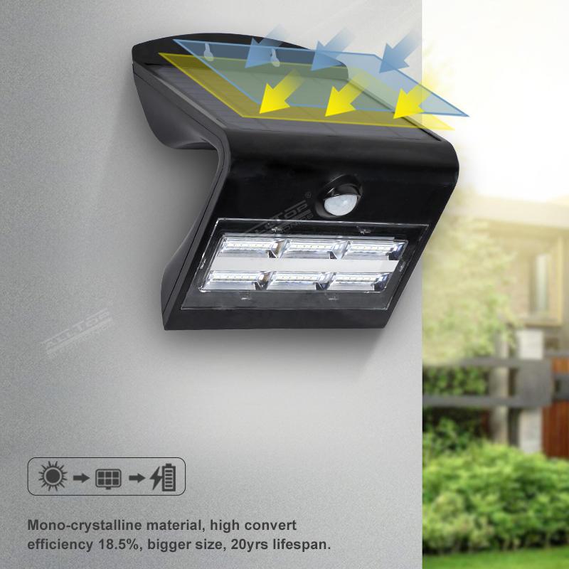 Alltop Solar Wall Lights Wireless Waterproof Motion Sensor Outdoor Light