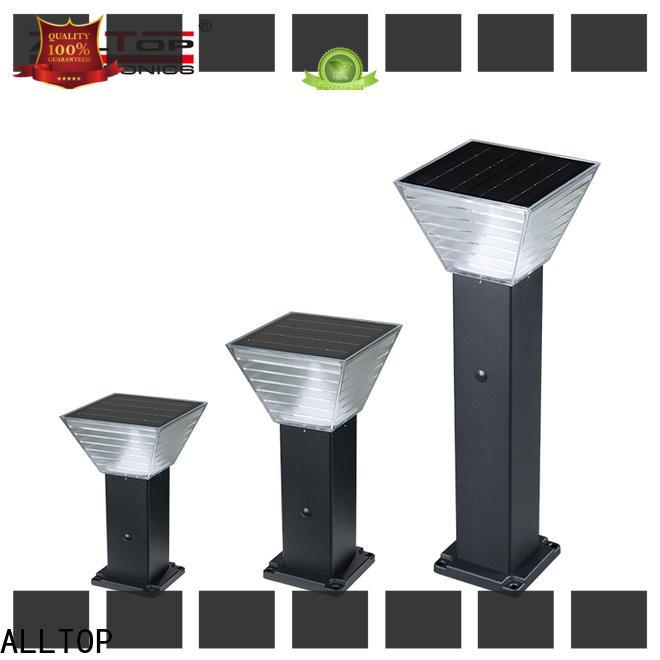 ALLTOP solar pillar lights factory for landscape