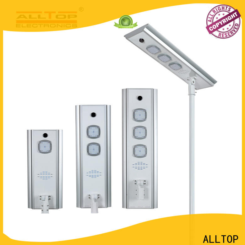 ALLTOP customized all in one solar led street light factory direct supply for road