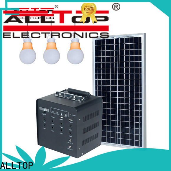 ALLTOP energy-saving solar led lighting system directly sale for camping