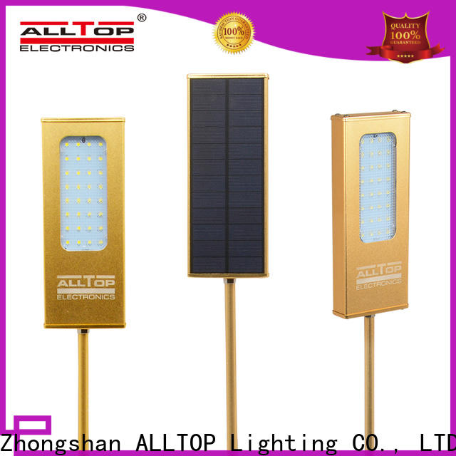 ALLTOP modern solar pir wall light series for street lighting