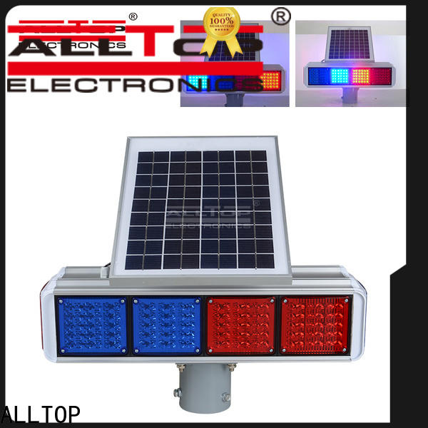 ALLTOP solar traffic signal wholesale for safety warning