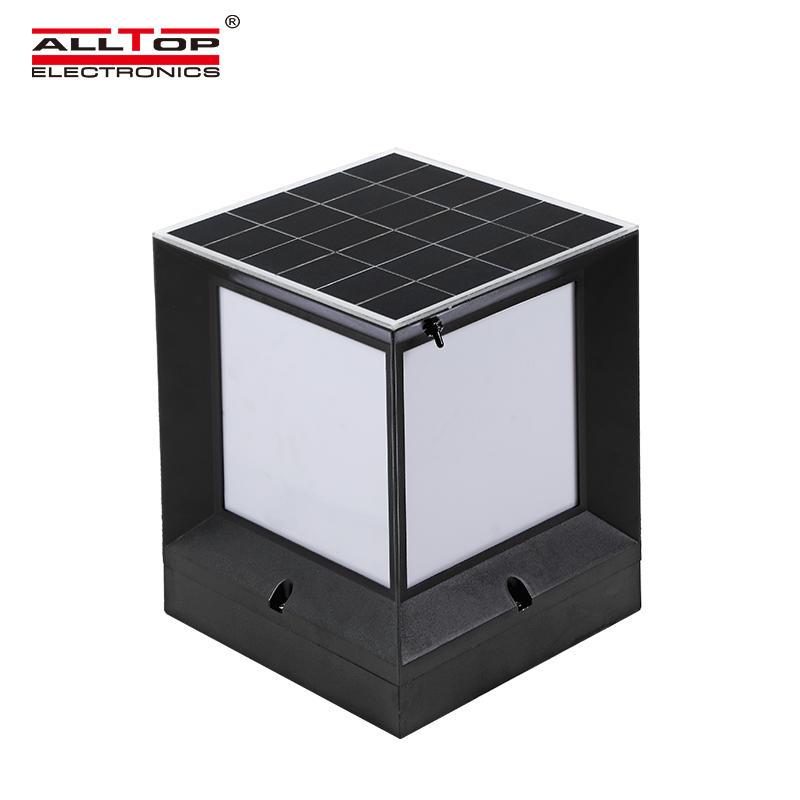 ALLTOP Solar column head light household outdoor waterproof garden light