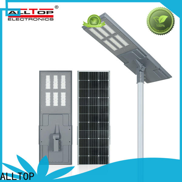 ALLTOP all in one solar street courtyard light with good price for road