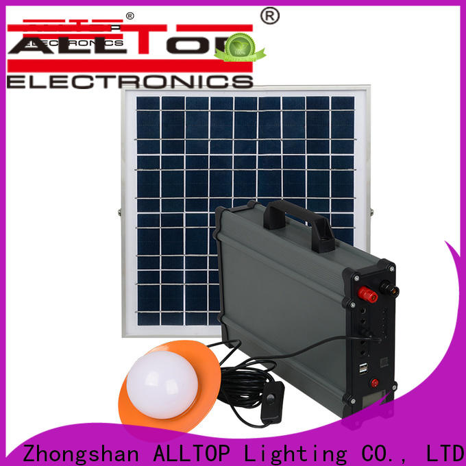 ALLTOP solar led lighting system supplier for battery backup