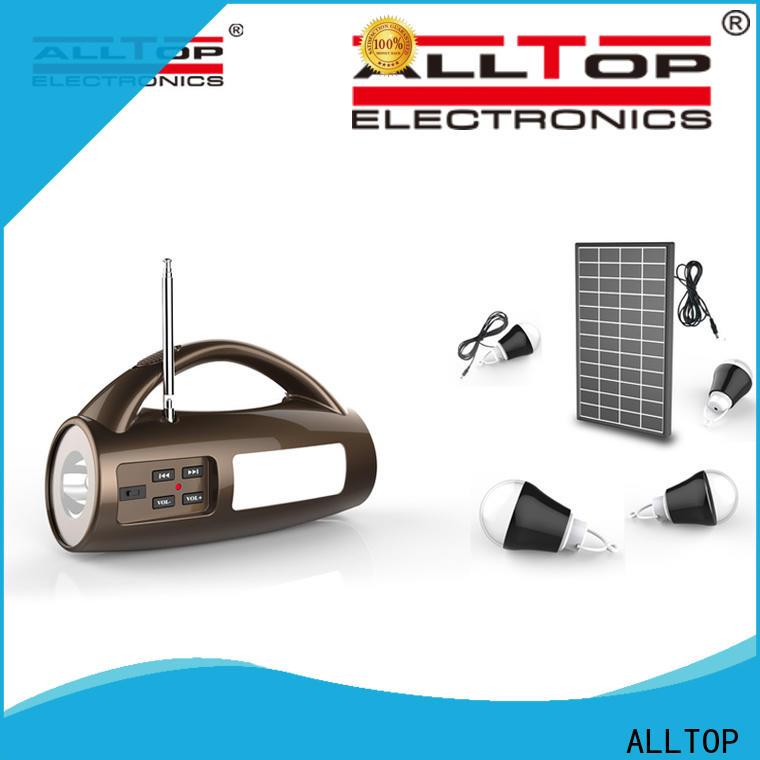 ALLTOP solar lighting system directly sale for battery backup