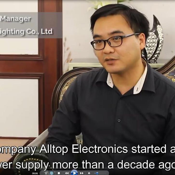 Zhongshan ALLTOP Lighting CO.,LTD.  was invited to do news interviews on LED Lighting