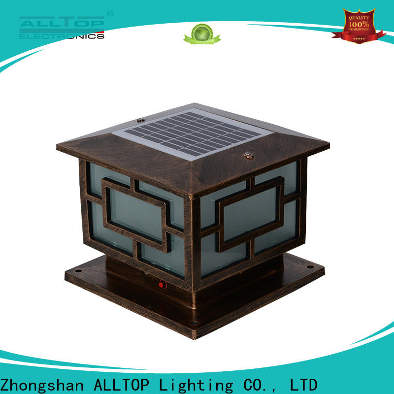 ALLTOP garden bright solar lamp post suppliers for landscape