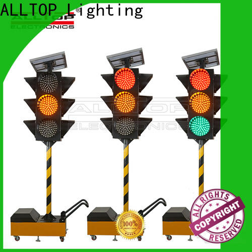 ALLTOP solar powered traffic lights company directly sale for police