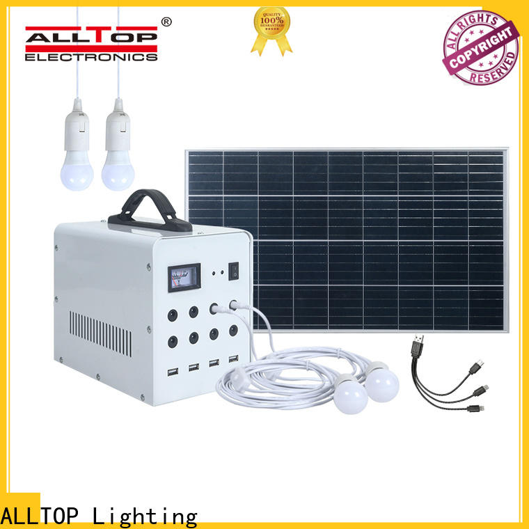 ALLTOP abs solar panel lightning system for home manufacturer for camping