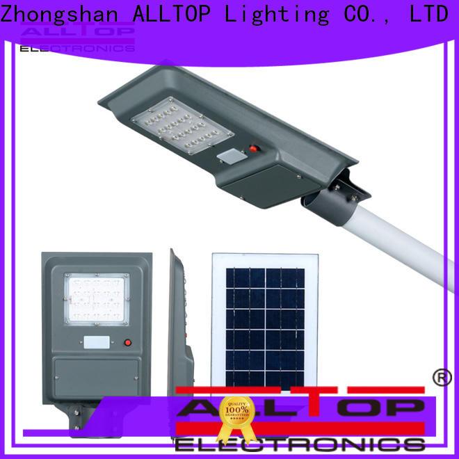 ALLTOP waterproof pole solar street light best quality manufacturer
