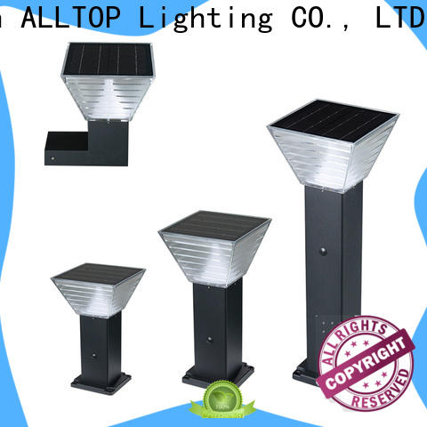 solar powered garden post lights