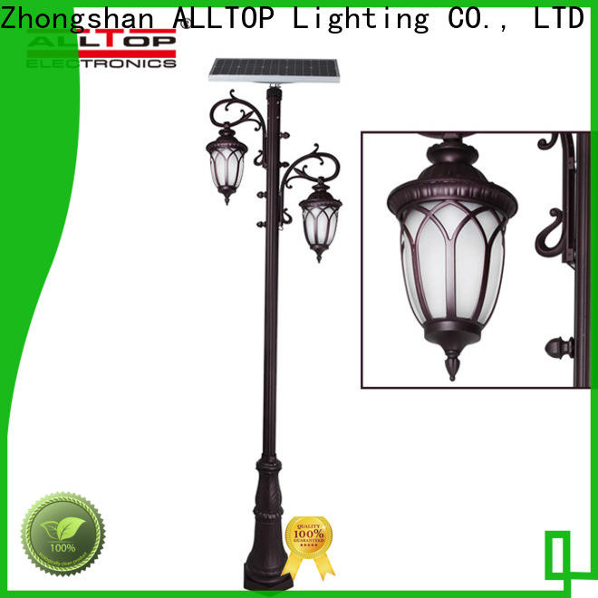 ALLTOP energy saving solar powered post lantern suppliers for decoration
