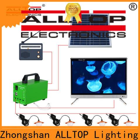 ALLTOP energy-saving solar led lighting kit system factory direct supply for battery backup