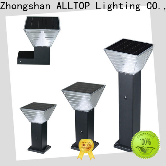 ALLTOP solar powered post lantern