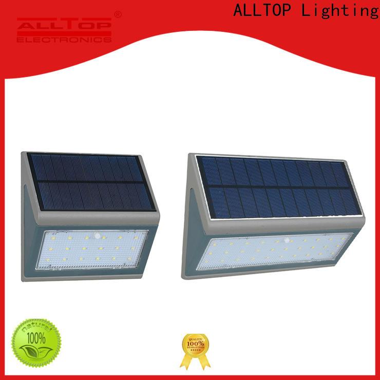 ALLTOP waterproof solar wall mounted motion sensor light supplier for street lighting