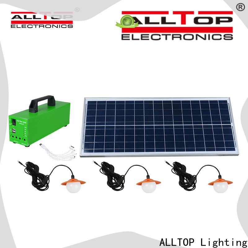 ALLTOP portable solar home light with good price for battery backup