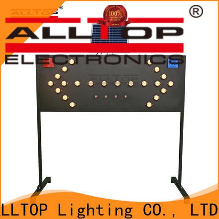 ALLTOP double side solar barricade light series for security