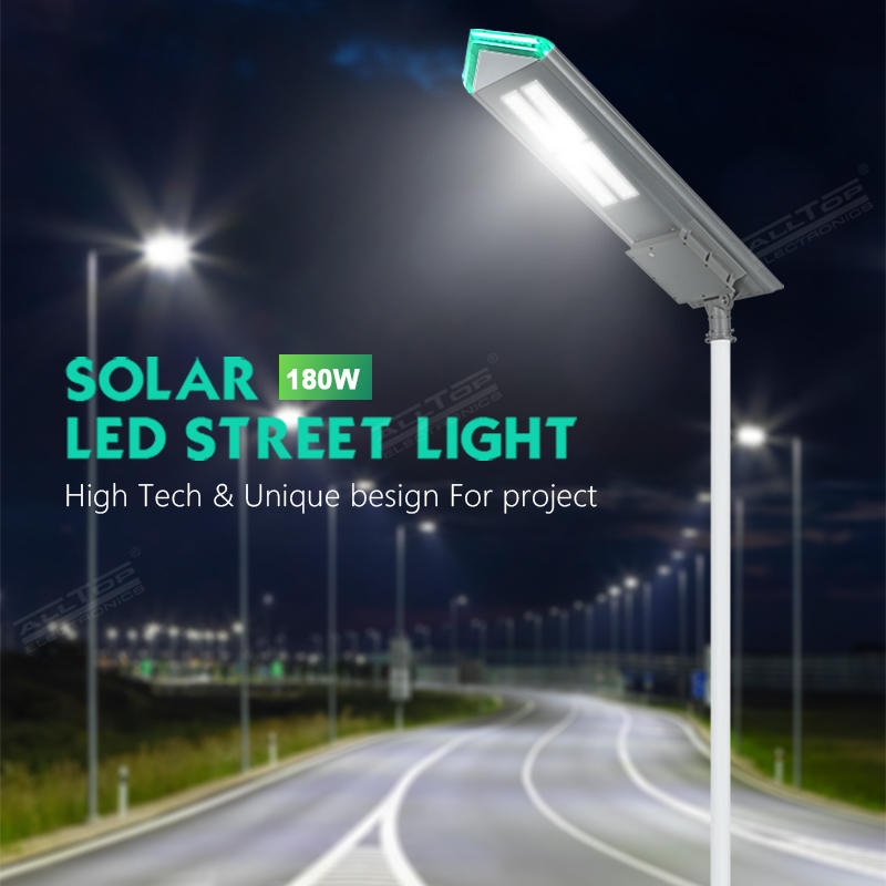 ALLTOP outdoor waterproof IP65 180W all in one solar LED street light