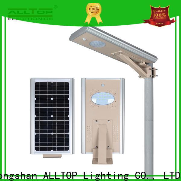 ALLTOP solar panel street lights functional manufacturer