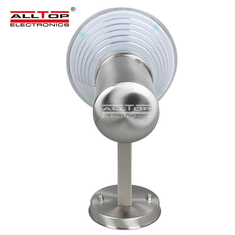 ALLTOP High quality stainless steel outdoor all in one led solar wall light
