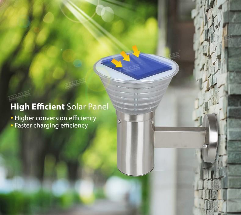 ALLTOP modern china solar wall light manufacturer for camping