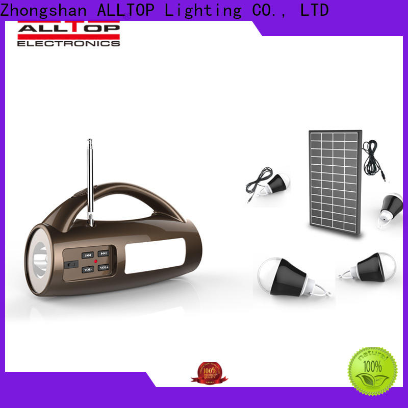ALLTOP solar powered battery pack with good price indoor lighting