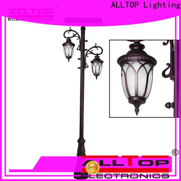 ALLTOP solar garden lamp post lights suppliers for landscape