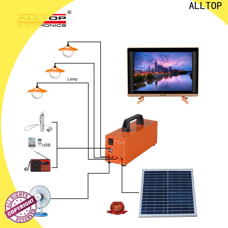 ALLTOP best off grid solar system directly sale for camping