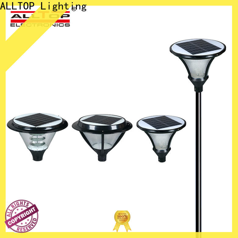 ALLTOP best solar lamp post lights suppliers for landscape
