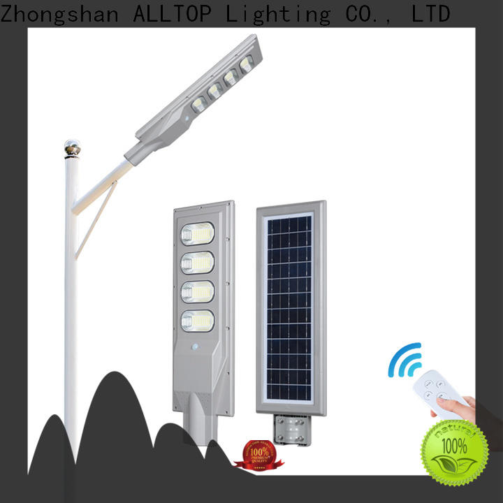 ALLTOP solar powered parking lot lights best quality manufacturer