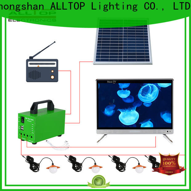 abs off-grid solar lighting system factory direct supply for outdoor lighting